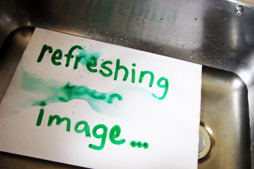 refreshing your image