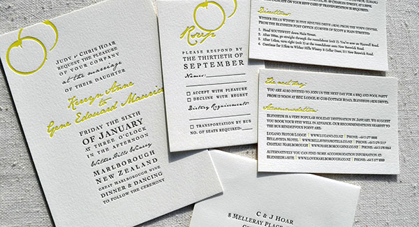 Wedding Stationery, Invitations